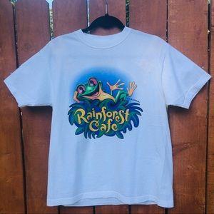 Vintage 90s Rainforest Cafe Graphic T Shirt Frog